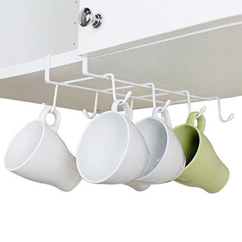 GeLive Under Cabinet Mug Holder Hook Drying Rack Hanger Storage Organizer for Ties And Belts