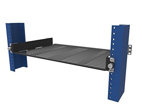RackSolutions 1U 2 Post Rack Sliding Cantilever Half Shelf for 19 Inch Relay and Telco Racks
