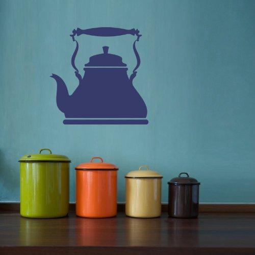 Housewares Vinyl Decal Tea Pot Kettle Kitchen Utensils Home Wall Art Decor Removable Stylish Sticker Mural Unique Design for Room