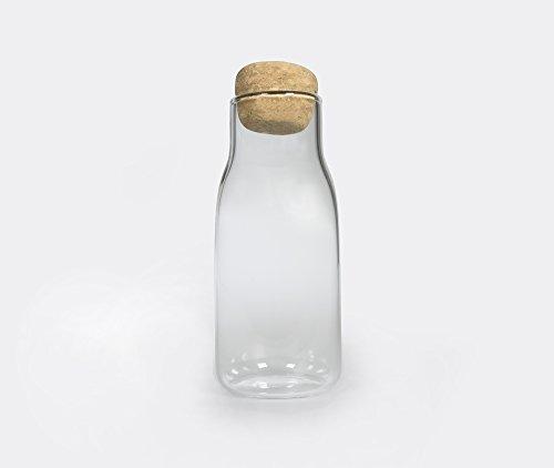Kinto Bottlit Glass Food Storage Jar with Cork Lid - Keeps Dried Food Loose-leaf Tea Coffee Beans Fresh - 300ml
