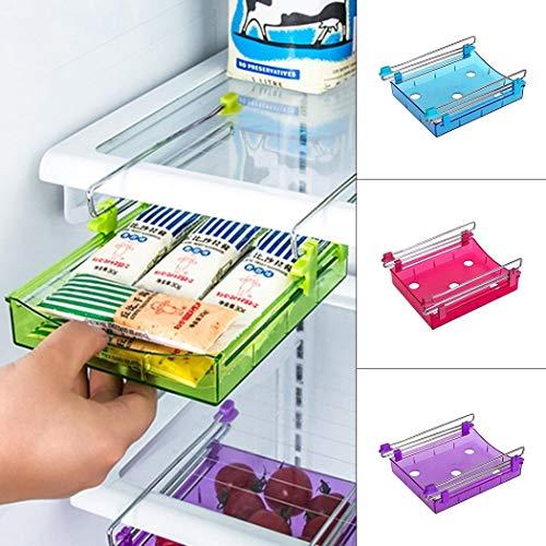 Salver Kitchen Refrigerator Keep Fresh Sliding Drawer Storage Box Home Food Storage Organization Sets