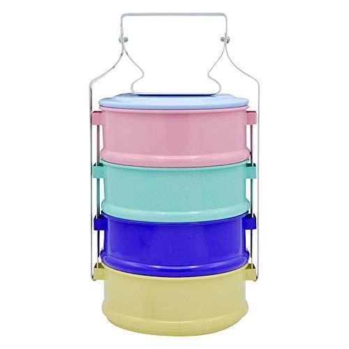 Thai Enamelware Pastel Lunch Box 4 Tier Thai Product Kitchen Home Food Storage