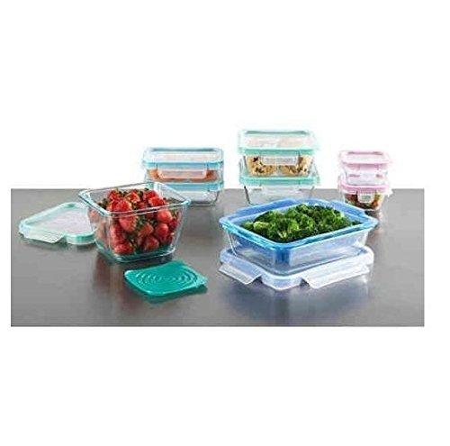 DoaalerTM Snapware Total Solution 19 Piece Pyrex Glass Food Storage Set Dishwasher Safe
