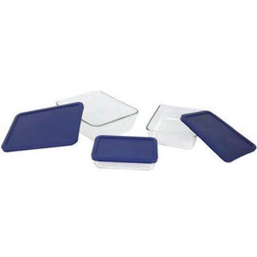 Pyrex Simply Store 6-Piece Rectangular Glass Food Storage Set
