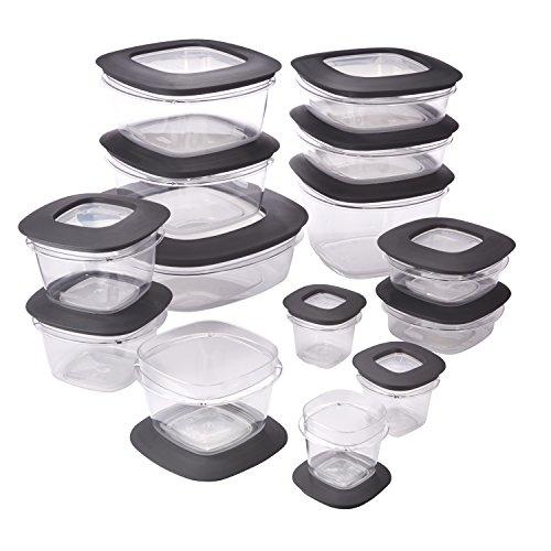 Rubbermaid Premier Food Storage Containers 28-Piece Set Grey