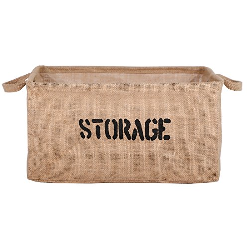 DOKEHOM DKA0613BNXL 22 Jute Storage Basket Available 1417 and 22 Large Square Collapsible Toy Basket XL