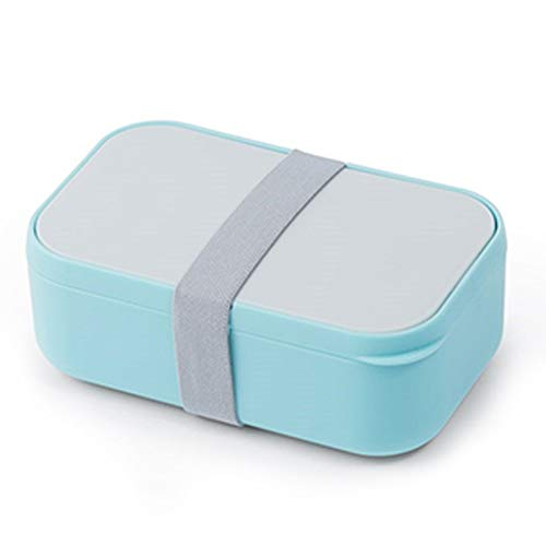 Nrpfell Leakproof Lunch Box Portable Bento Box with Tableware Soup Bowl Thermal Bag Microwavable Food Container Blue