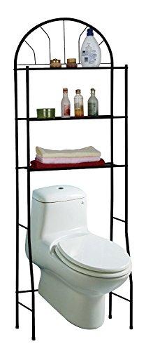 3 Shelves Space-Saving Bathroom Shelving Unit Over the Toilet Storage Rack