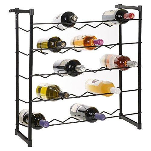 EG Homewares Metal Free Standing Stackable Wine Rack To Fit 30 Or 60 Bottles