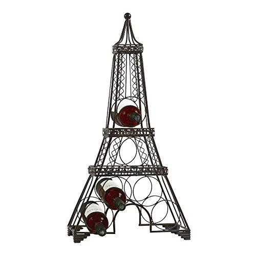 Eiffel Tower Wine Rack Sleek Modern Design Black Metal Freestanding Wine Storage Rack- Wine Bottle Holder