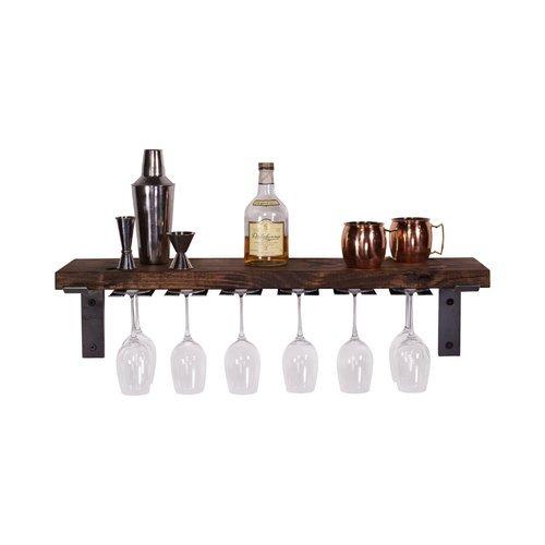 Wall Mounted Wine Glass Rack by DelHutsonDesigns