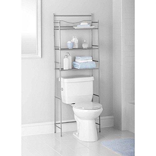 3-Shelf Over Toilet Bathroom Storage Organizer Cabinet Space Saver Towel Rack