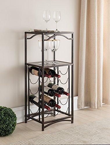 Kings Brand Furniture Metal Wine Storage Rack Organizer Display Table