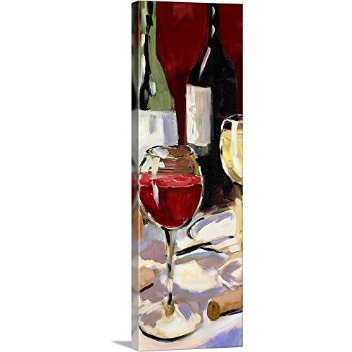 Wine Canvas Wall Art Print 12x36x125