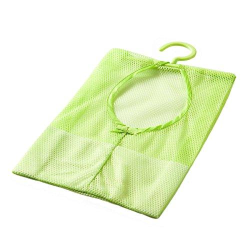 Hanging Mesh BagNACOLA Colorful Multipurpose Clothespin Bag with HangerBathroom Shower Storage Organizer Set
