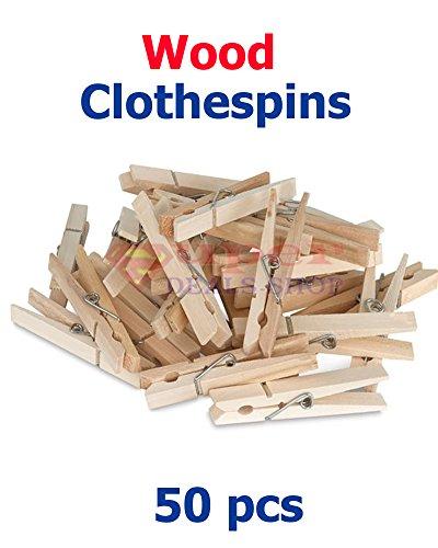 50 Pieces Wood Clothespin Wooden Clothespins Clothes Pins Clothes Pins Wood Wood Clothespin Set 50 Pieces Super-Deals-Shop