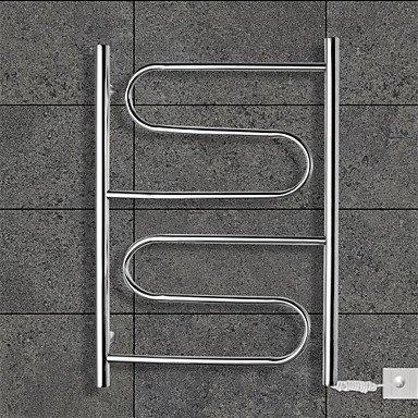 LI 80W Towel Warmer Stainless Steel Mirror Polished Drying Rack Wall Mount  110-120V