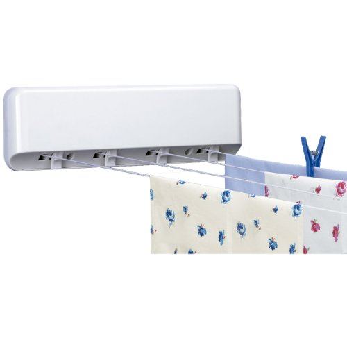 Rayen 0041 4-Line Wall Mounted Clothes Drying Rack 164-Feet
