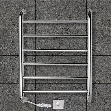 lana 60W Towel Warmer Stainless Steel Mirror Polished Drying Rack Wall Mount