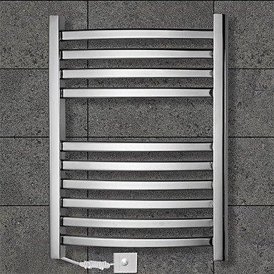 lana 90W Towel Warmer Stainless Steel Mirror Polished Drying Rack Wall Mount