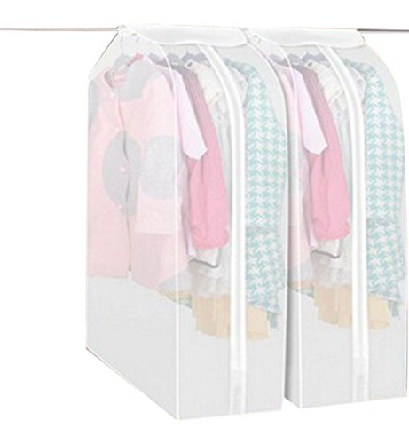 Hilltop To Cloud Cute Premium Three Dimensional See-through Wide Travel Garment Suit Clothes Covers Bags Clothes Organizer Dress Dustproof Storage Zipper Bags Protector