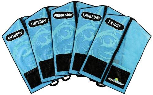 Organizables Childrens Hanging Clothes Organizer Boys Standard Weekday Set Blue
