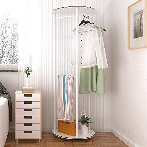 Simple and modern hangers standing coat rack in the Foyer floor bedroom creative fashion clothes shelf racksWhite