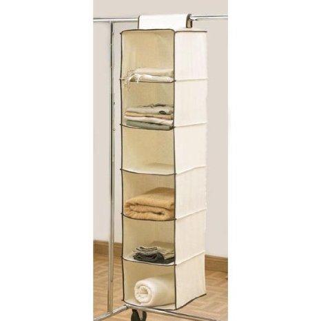 6 Shelf Hanging Wardrobe Storage Unit Sweater Organiser by Safield