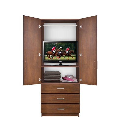 Bella Armoire - Hanging Wardrobe Storage 3 External Drawers