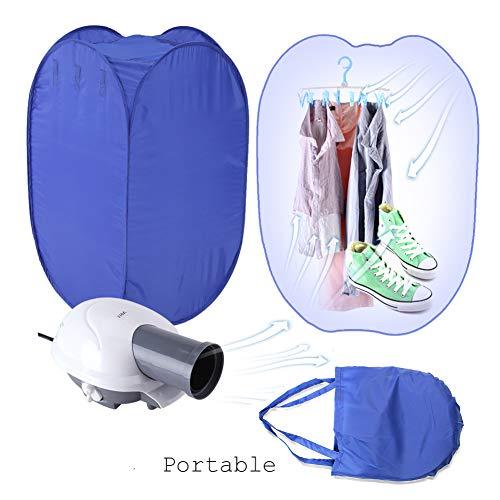 Yosooo Portable Clothes Dryer 800W New Portable Electric Clothes Drying Machine Fast Dryer Folder Dryer Bag Home US Plug