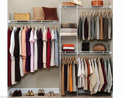 Closet Organizer Shelves System Kit Shelf Rack Clothes Storage Wardrobe  Hanger