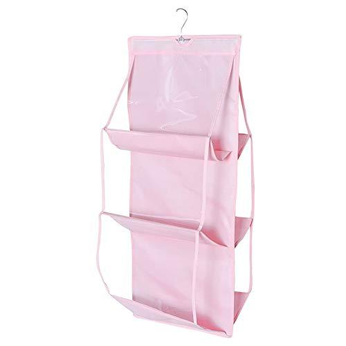 Smartcoco 6 Pockets Foldable Closet Rack Hanger Storage Bags Hanging Organizer Supplies for Backpack Handbag Clothes Shoes