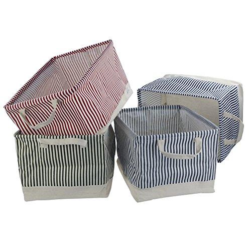 Pekky Linen Storage Basket for Toy Storage 4 Packs F