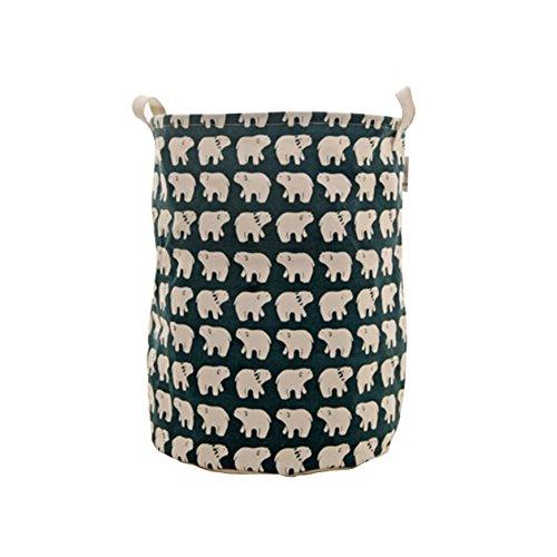 Cute Polar Bear Foldable Laundry Basket Storage Bag Practical Hamper Bag