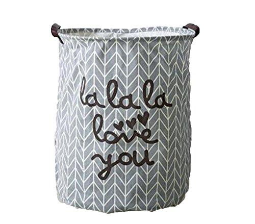 Top Estore Large Storage Foldable Laundry Basket Storage Hamper Waterproof Laundry Basket Gray