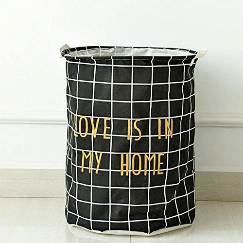 Pangxiannv Cotton Large Laundry Hamper Laundry Baskets Black Laundry Basket Sundries Storage Box Laundry Hamper Laundry Basket Laundry Sorter Clothes Hamper Laundry Baskets Cloth Basket