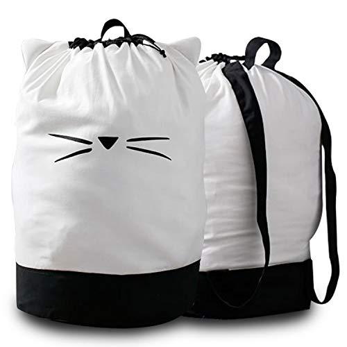Monsterz Factory Kawaii Cat Ear Laundry Backpack Bag College Dorm Room Wash Laundry Washing Bag Laundry Bag Hamper