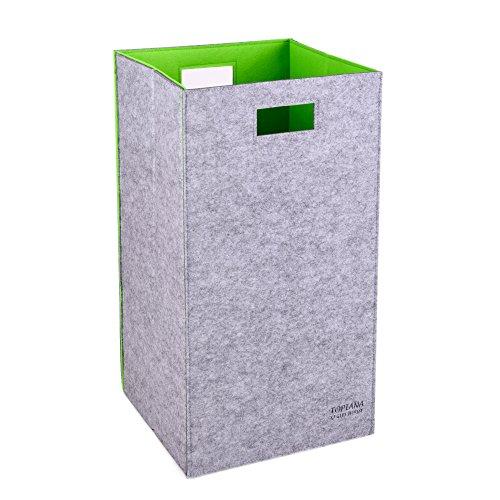 Closet Folding Laundry Clothes Hamper Sorter Basket Bin Green