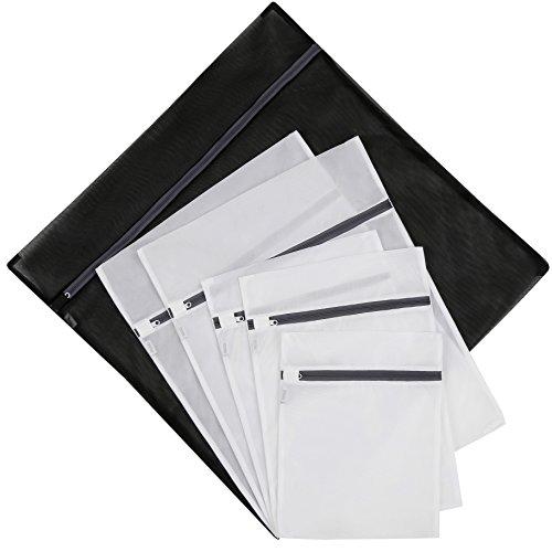 Set of 6 Wash Laundry Bags-1 Jumbo 2 Extra Large2 Medium 1 Small for LaundryBlouse Hosiery Stocking Underwear Bra and Lingerie Travel Laundry Bag