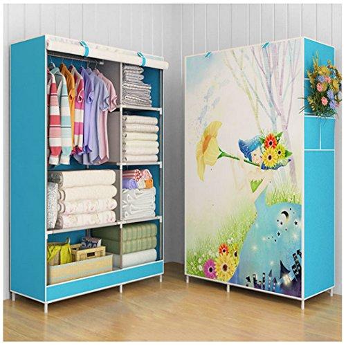 Asunflower Roll Up Closet Storage Organizer Clothes Wardrobe Rack Hanger with 5 Garment shelves for Kids - Princess