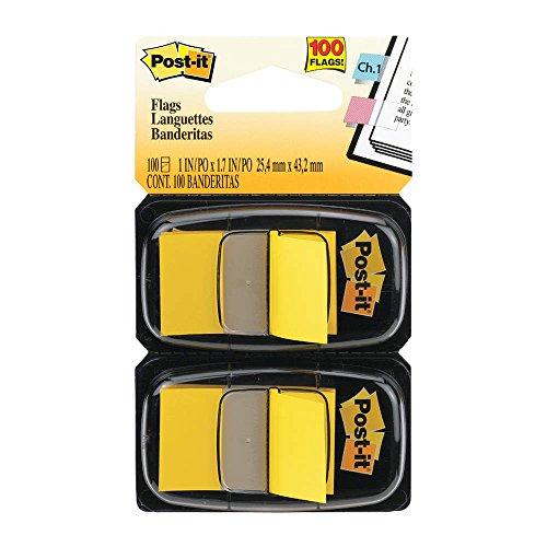 Post-it Flags 680YW2 - Standard Tape Flags in Dispenser Yellow 100 FlagsDispenser