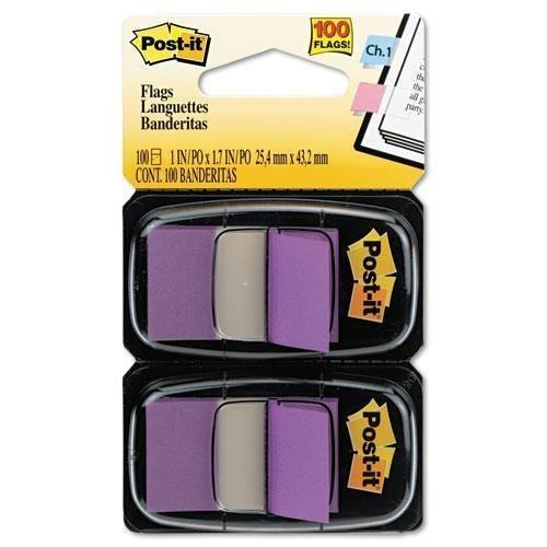 Post-it Flags Standard Tape Flags in Dispenser Purple 100 FlagsDispenser