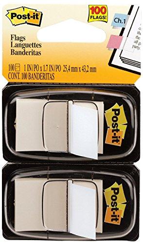 Post-it  Standard Tape Flags in Dispenser White 100 Flags per Dispenser -- Sold as 2 Packs of - 100 -  - Total of 200 Each