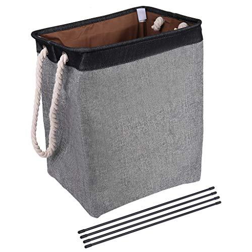 Lavany Laundry Basket with Handles Large Linen Laundry Basket Clothes Storage Foldable Clothes Bag Folding Washing Bin US Stock