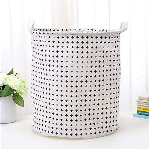 wumedy Clothes Laundry12inch Cotton Linen Storage Bin Folding Laundry Hamper Storage Organizer for Bedroom Nursery Room22 Type Shelf Baskets