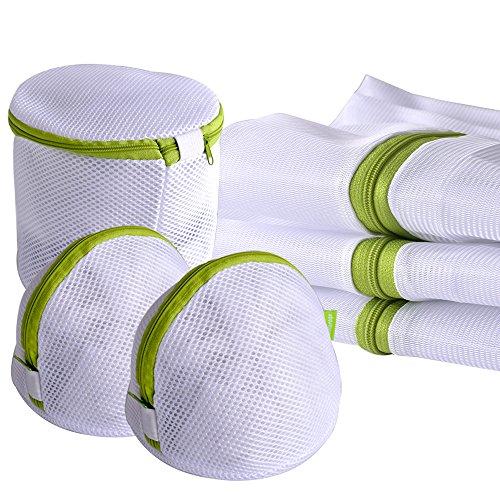 Laundry Wash Bag 6-Pack Yazer Durable Mesh Wash Laundry Bag Blouse Hosiery Stocking Underwear Bra and Lingerie Travel Laundry Bag with Premium Zipper
