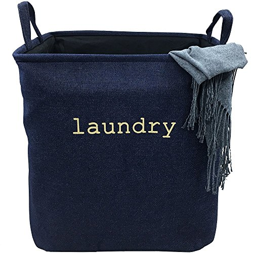 VANCORE Collapsible Laundry Basket Hamper for Household ClothesToys - Denim Small