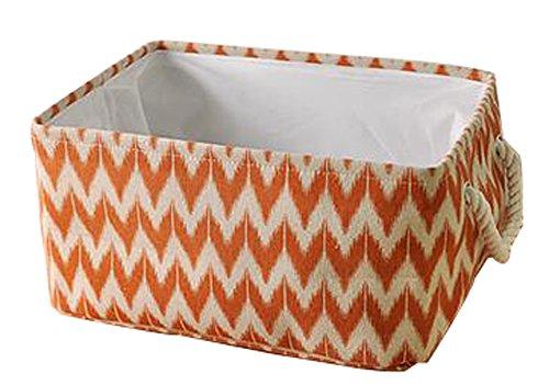 Square Laundry Hamper Basket Collapsible Storage Boxes Storage Bins Orange