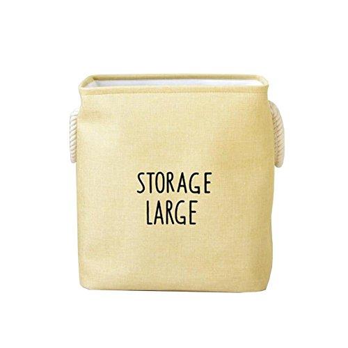 TSAR003 Large Color Cotton And Linen Thick Eva Lining Belt Handle Square Laundry Hamper Or Basket Dirty Clothes Storage Barrels Debris Finishing Bag  B
