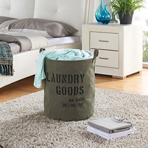 Danya B Army Canvas Laundry Bucket